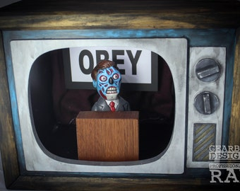 They Live Obey Handmade Art Toy Light Box