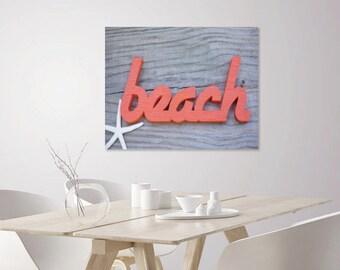 Beach Decor Nautical   Coastal Photo Art Print   Word Art Print   Nautical Wall Decor   Coastal Decor   Coastal Wall Decor   Photo Wall Art