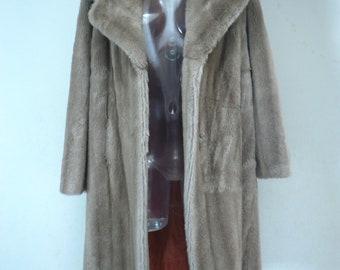 Tissavel France Vintage Faux Fur Coat