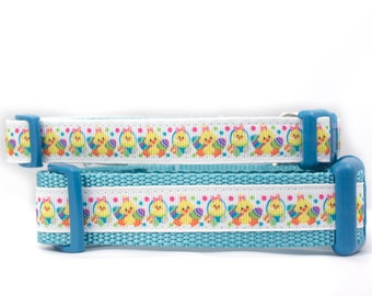 Easter Chick Dog Collar - 5/8, 3/4 or 1 inch wide Dog Collar - Easter dog collar- buckle collar - Spring dog collar - easter egg collar
