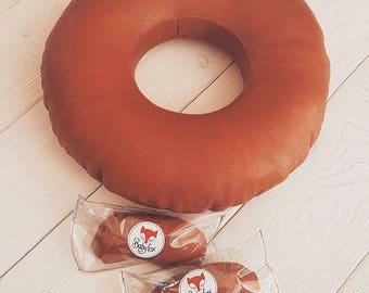 BabyFox Newborn Potato Sack posing ring / pillow Newborn Photography Prop Eco Leather