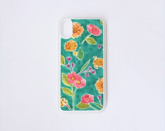 Floral iPhone X Case - Colorful iPhone Case - Floral Illustration iPhone X Case - Botanical iPhone Case - Rubber iPhone Case