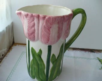 Housewarming Gift, Hostess Gift, Tulip Pitcher, Flower Pitcher, Gift For Mom, Gift For Her,  Anniversary Gift, Gift For Daughtert