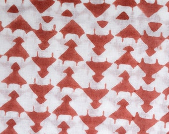 Hand block Tribal style printed fabric,1 yard