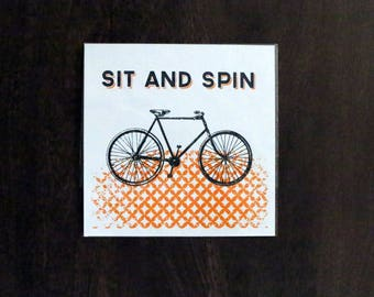 It and Spin- Screen Print - 8 x 8
