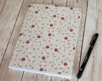 Gardener Flowers A5 rustic journal / planner / notebook / sketchbook, 40 pages, saddle stitched