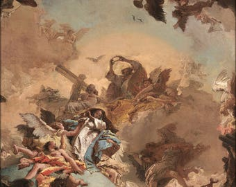 Poster, Many Sizes Available; Giovanni Battista Tiepolo The Coronation Of The Virgin