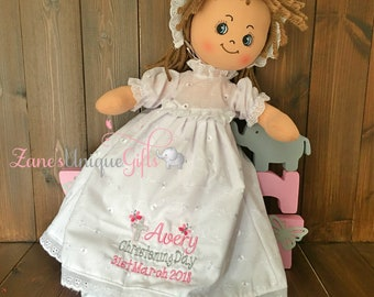 Baby Christening Gift / Personalised Rag Doll / Handmade Doll / Baby Doll / Soft Dolls / Doll for Baby Girls / Doll for Gift / Fabric Doll