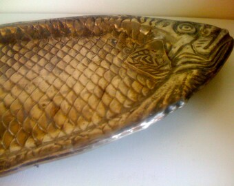 Ornate Art Deco Large Hotel Silver Plate Fish Platter/ Vintage 1930s Serving Tray Free Shipping