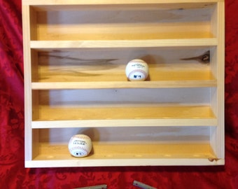 Baseball Display Rack   Handmade