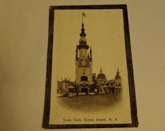 Luna park coney island ny postcard