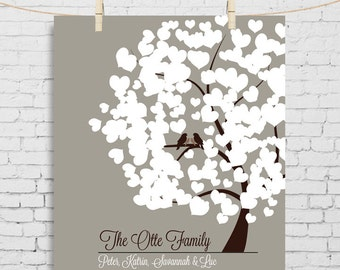 Unique Anniversary Gift Tree Poster Family est Family sign family Tree print gift for parents 25th anniversary gift for husband personalized