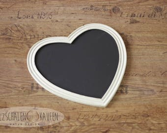 Wood sign shabby tablet newborn photo props chalk Blackboard Heart Wedding Decoration