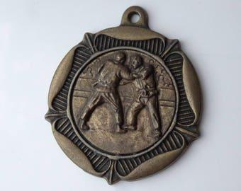 Vintage Karate Judo Martial Arts Medal Medallion Pendant - os
