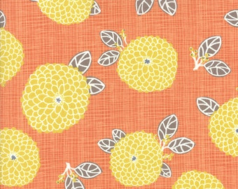Moda Autumn Woods Dahlia Persimmon - Kate and Birdie Paper Co - 1 yard