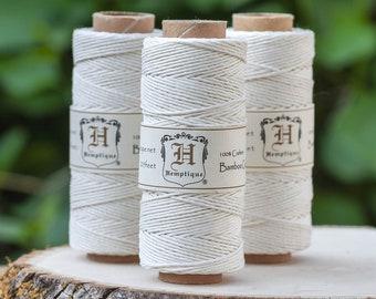 Bamboo Cord, 1mm, White Macrame Cord, Bamboo Twine
