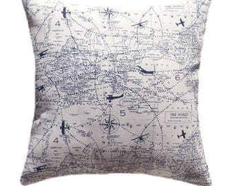 Map pillow cover etsy gumiabroncs Choice Image