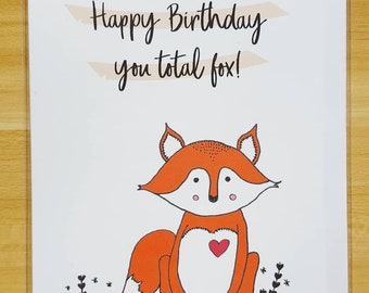 Handmade Cards - Fox, Happy Birthday Card, Cards