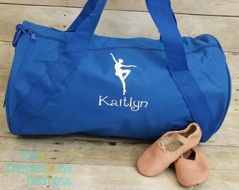 Personalized BALLET Duffel/Gym Bag. Dance gift, Dance bag, ballet bag, dance team, duffel bag, Custom dance bag, dance shoe bag