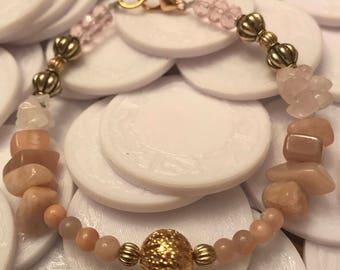 Love attracting semi precious stone bracelet