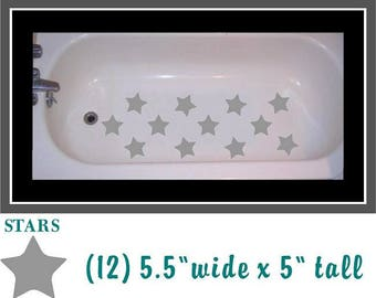 Private Listing for Jessica Non skid Non Slip Silver Stars decal for bathtub, shower