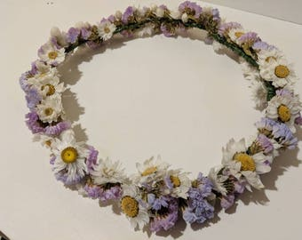 Lilac flower crown