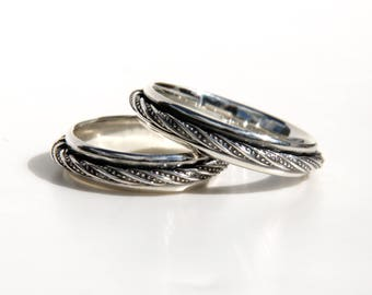 Spinner ring, fidget ring, meditation ring, sterling silver, made to order, custom sizes.