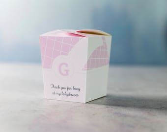Babyshower boxes - Boy/Girl - Thanks for being at my babyshower
