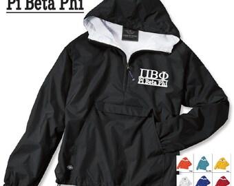 Pi Beta Phi // Pi Phi // Sorority Charles River Rain Jacket // Choose your color