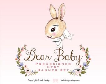 Dear Baby Bunny Spring Premade EASTER/SPRING  Etsy banner set