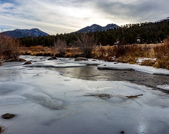 River in the Rocky Mountains Digital Print
