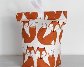 Orange Fox Fabric Door Stop Scandi Fabric Animal Print Home Decor Doorstopper Kids Decor Nursery