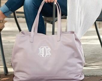 Cambridge Travel Bag in Blush, Large Personalized Weekender Bag