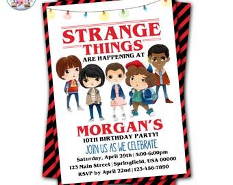 Stranger Kids Invitation, Stranger Party Invitation, Stranger Birthday, Strange Birthday