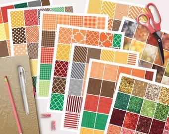 Instant Download, Planner Printable Stickers, Fall Planner Stickers, Autumn Planner Stickers, Printable Digital PDF JPG SVG