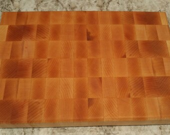 8x12 Maple Butcher Block Cutting Board - End Grain