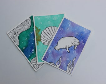Under The Sea- Watercolor Paintings