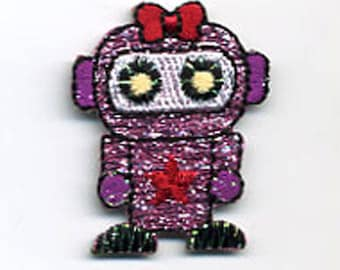 patch fusible Robot girl