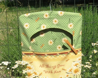 Clothespin Bag for clothesline, Peg Bag, Clothespin Holder Laundry Room Decor