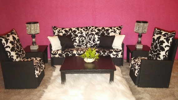 Doll Furniture For Barbie / Monster High / Bratz Living Room