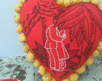 Heart PDF Hand Embroidery Pattern - Lovers/ Wedding/ Anniversary