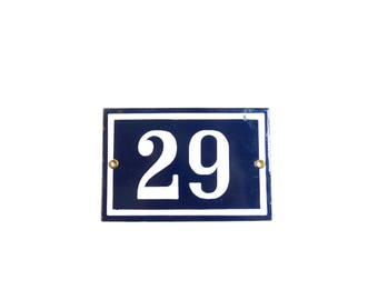 Vintage House Number 29 House number Sign House number Plate French Enamel Number Sign 29 birthday gift