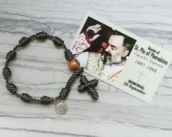 Padre Pio Rosary Bracelet - with charm