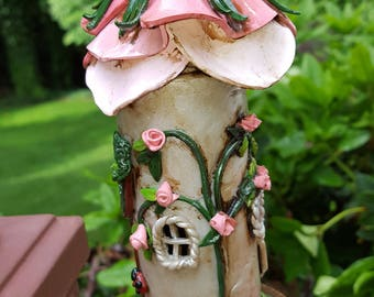 Rose Cottage Fairy Garden Tower House