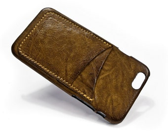 """UNIVERSAL iPhone 8 7 6s/6 4.7"""" leather credit card case 2 slots vertical choose colour of BODY and ACCENT"""