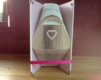 Handbag folded book art