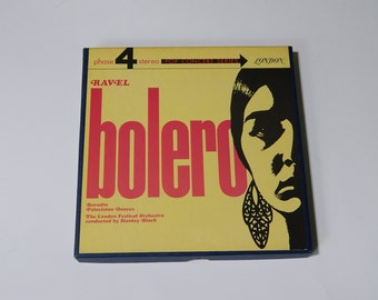 Ravel Bolero 4 Track Reel to Reel Borodin Polutsian Dances - London Festival Orchestra (Classical Music)