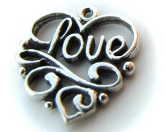 Sterling silver love heart pendant MSIA TEAM