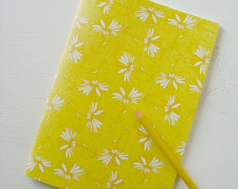 A5 Floral Notebook in yellow