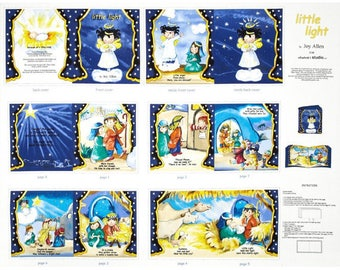"""Little Light SOFT BOOK Panel by Elizabeth's Studios - (36""""x44"""" Panel).  The DIY book tells the story of Jesus's Birth."""